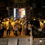 Were triads involved in Hong Kong violence?